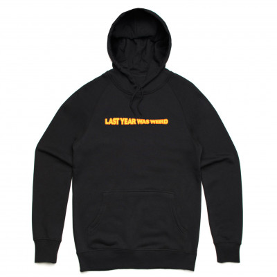 LYWW EMBROIDERED BLACK HOODIE