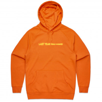 LYWW EMBROIDERED ORANGE HOODIE