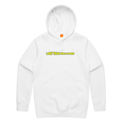 LYWW White Embroidered Hoodie